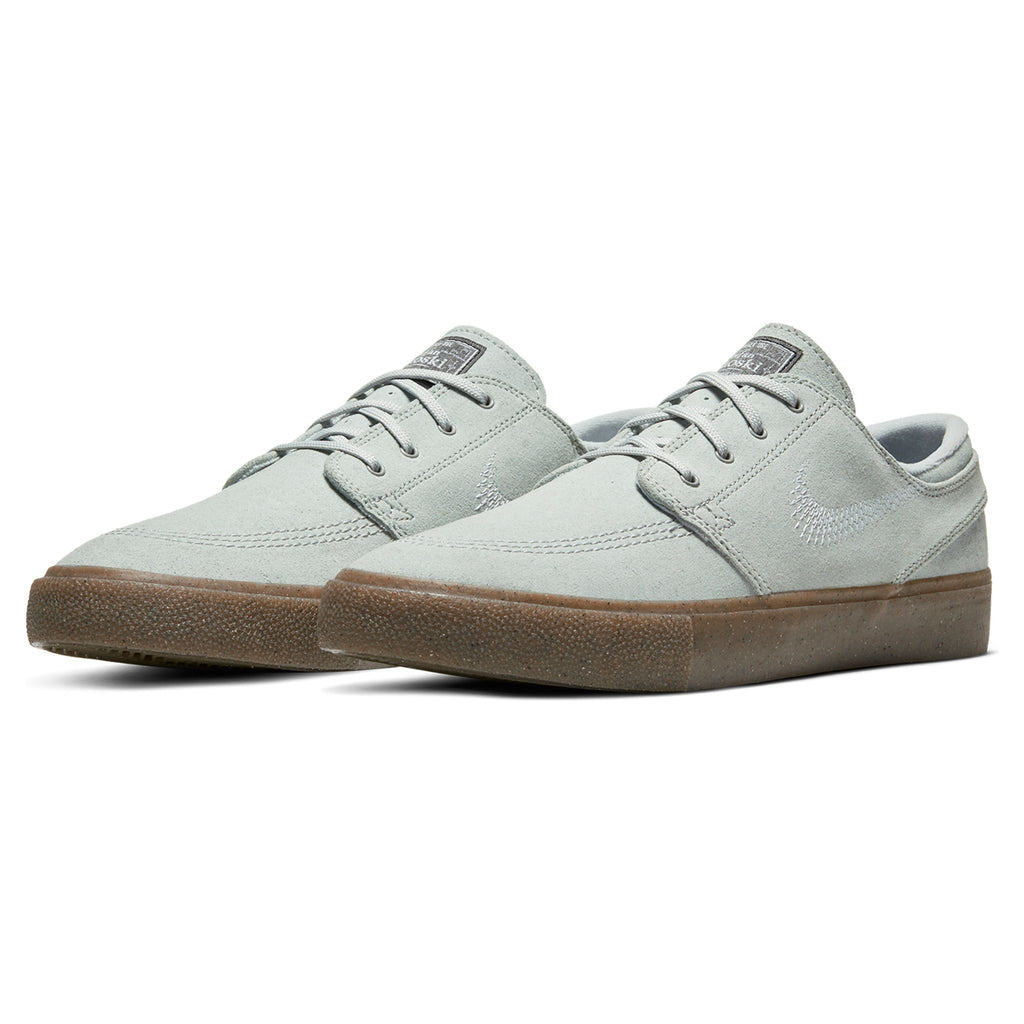 Nike SB Zoom Janoski Flyleather RM Shoes in Pure Platinum / Pure Platinum - Pair