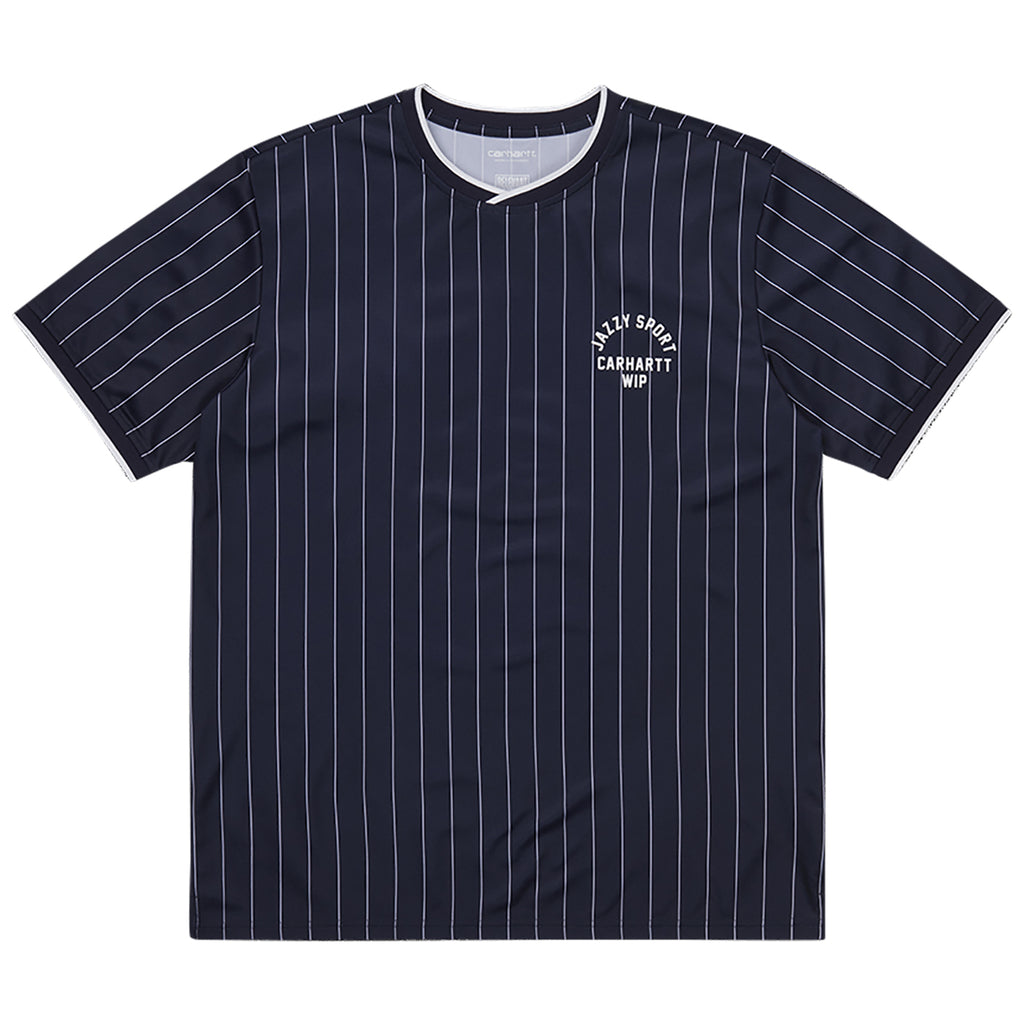 Carhartt WIP Jazzy Sport Jersey Navy / White Stripes -  Front