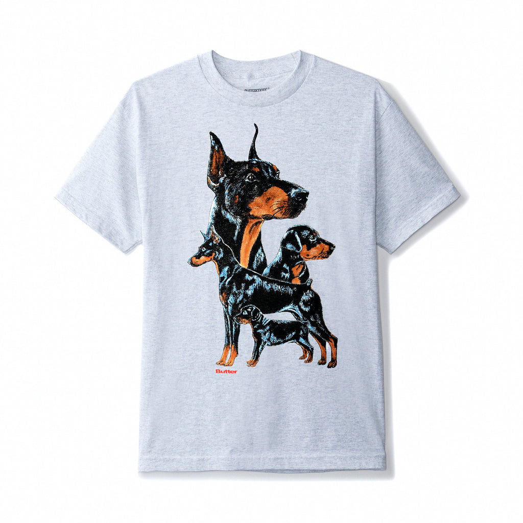 Butter Goods K9 T Shirt in Ash Grey