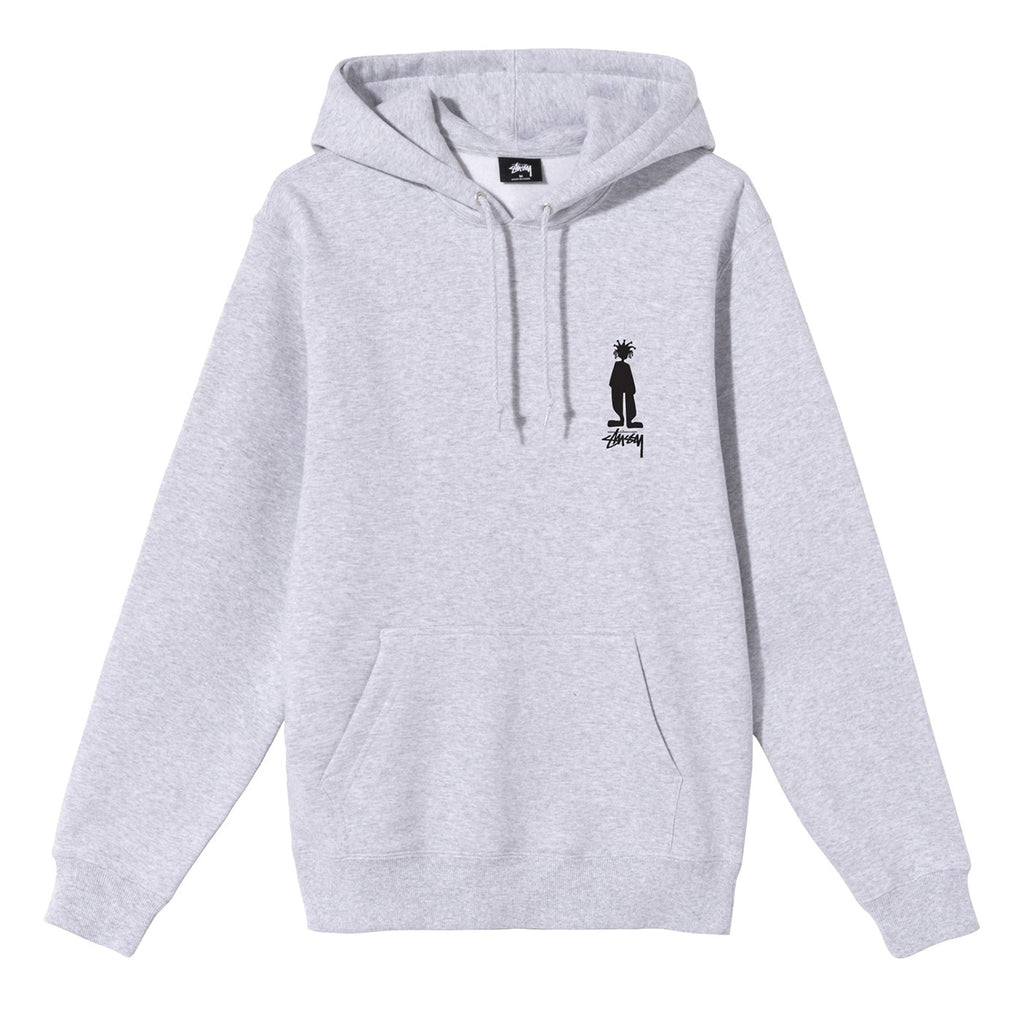 Stussy King Raggamuffin Hoodie Ash Heather - Front