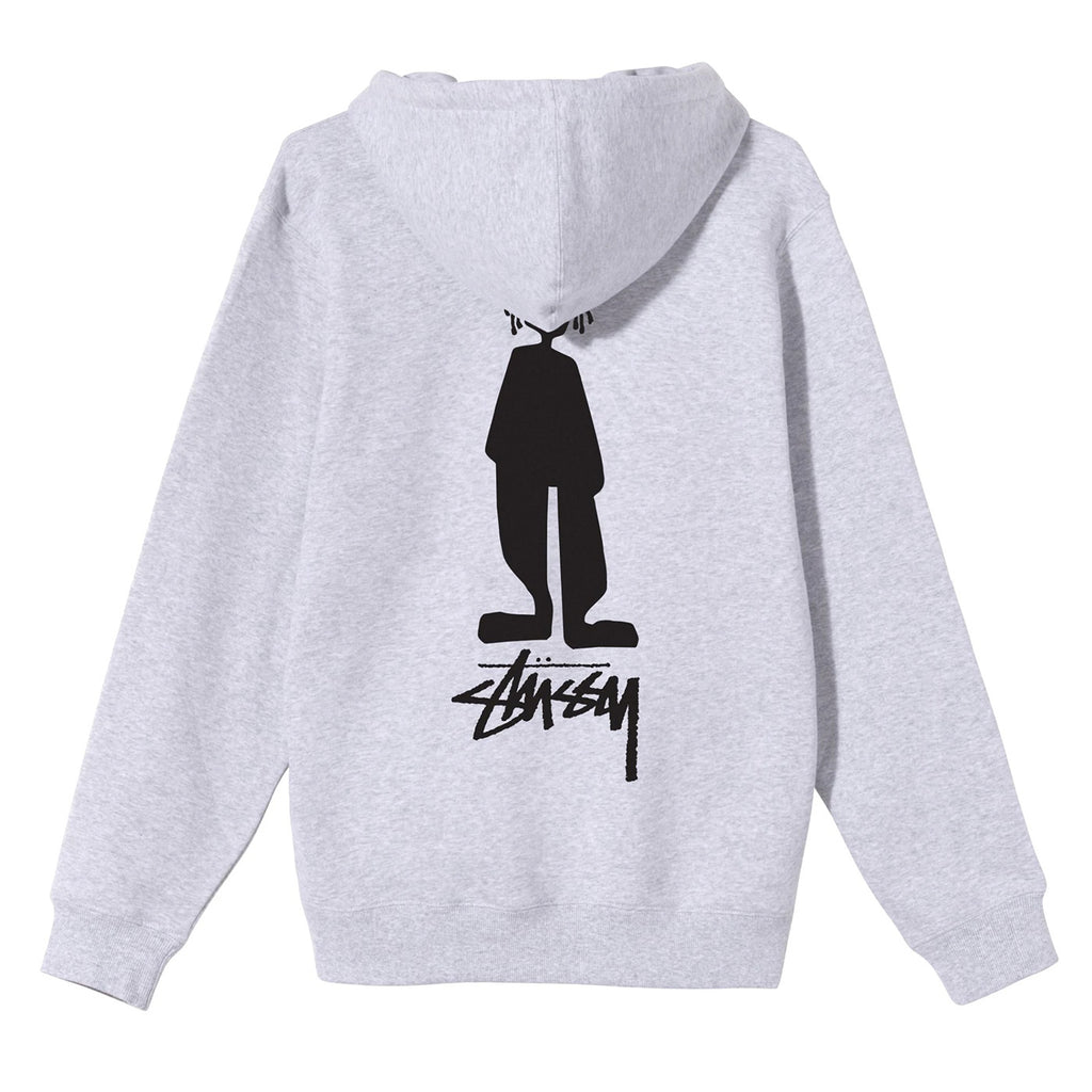 Stussy King Raggamuffin Hoodie Ash Heather - Back