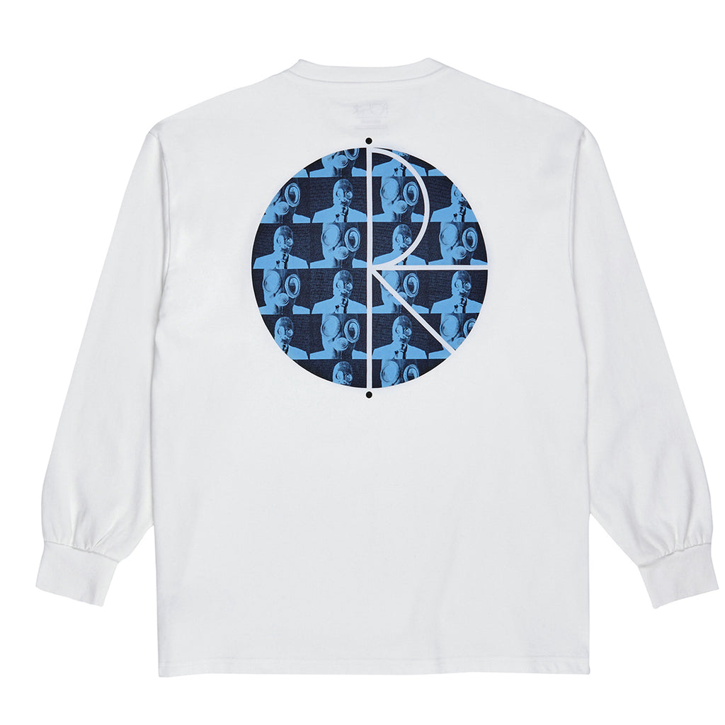 Polar Skate Co L/S Klez Fill Logo T Shirt in White