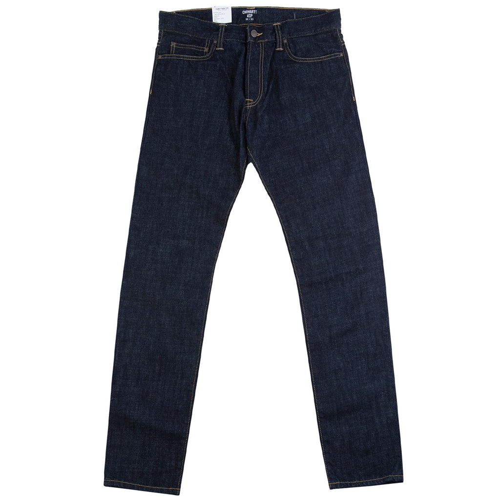 Carhartt WIP Klondike Pant Edgewood in Blue Rinsed - Open