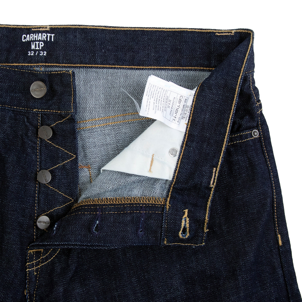 Carhartt WIP Klondike Pant Edgewood in Blue Rinsed - Unbuttoned