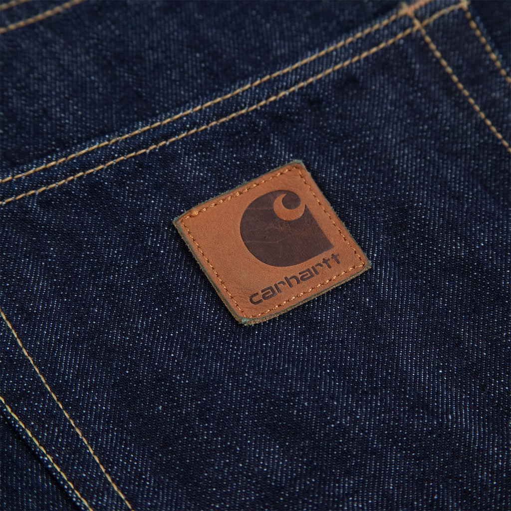 Carhartt WIP Klondike Pant Edgewood in Blue Rinsed - Label