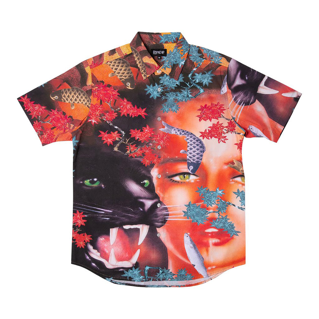 RIPNDIP Koi Button Up Shirt in Multi