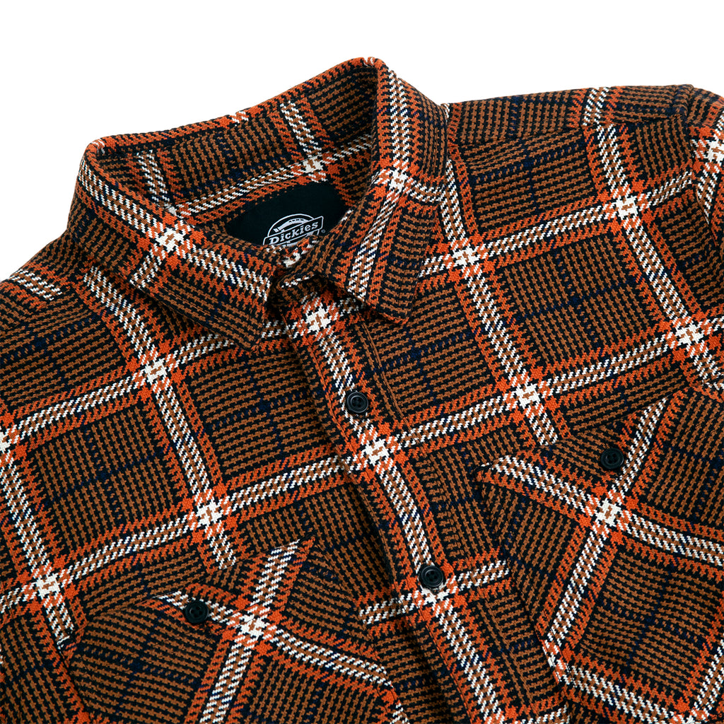 Dickies Kuttawa Shirt in Brown Duck - Detail