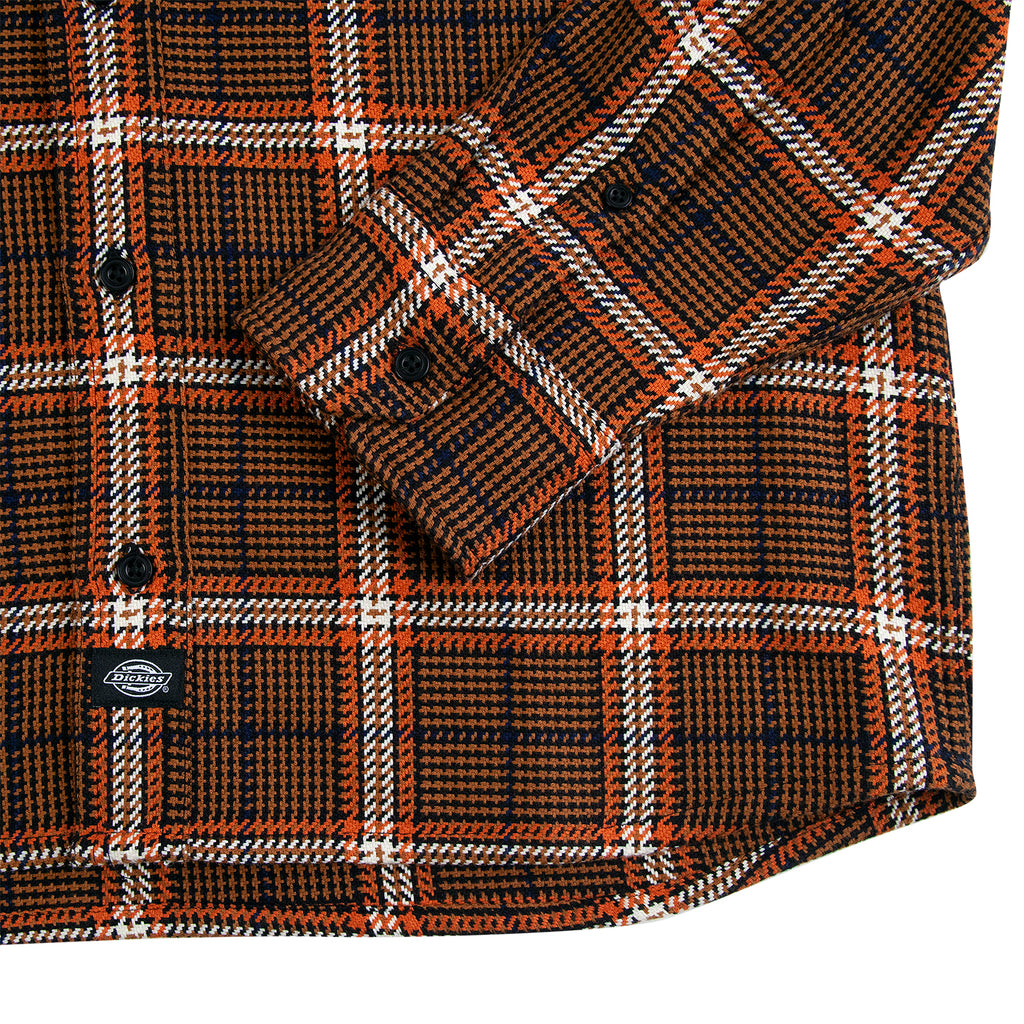 Dickies Kuttawa Shirt in Brown Duck - Cuff