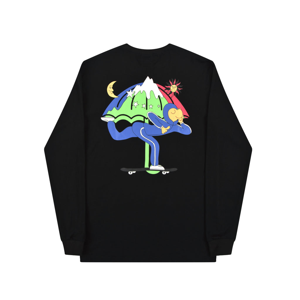 Helas LSDOG L/S T Shirt in Black