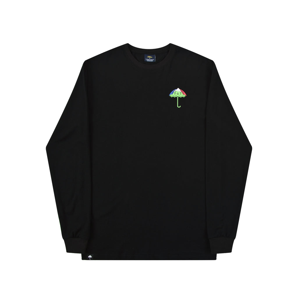 Helas LSDOG L/S T Shirt in Black - Front
