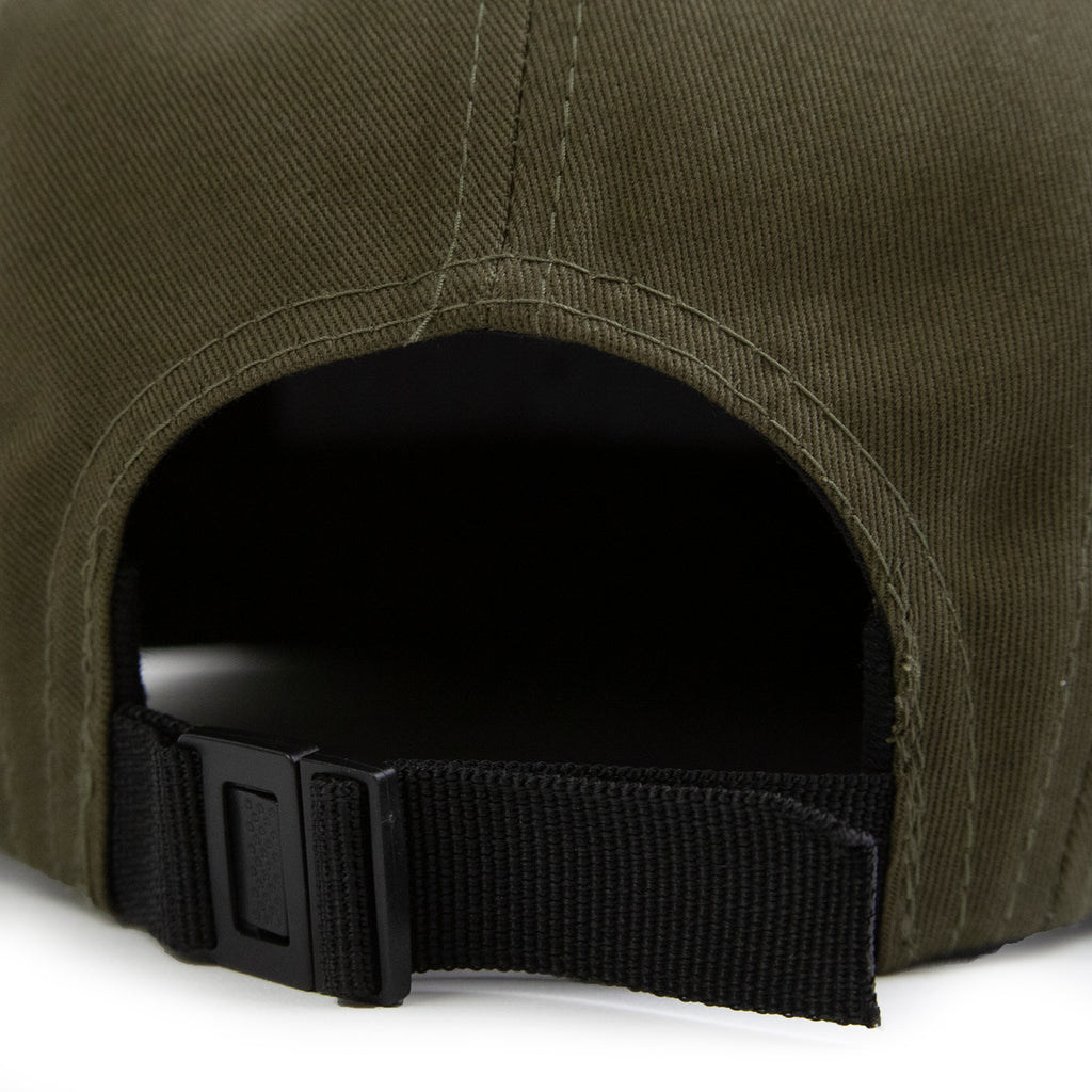 Thrasher 5 Panel Cap in Army - Strap