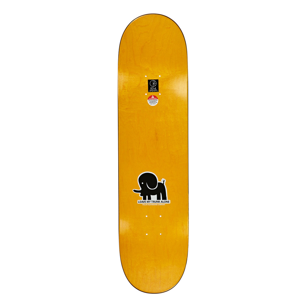 Polar Skate Co Leave My Trunk Alone Skateboard Deck - Top