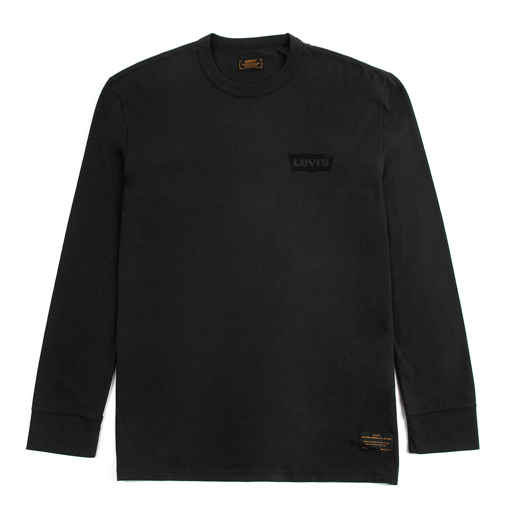 Levis Skateboarding L/S Graphic T Shirt in Core Black