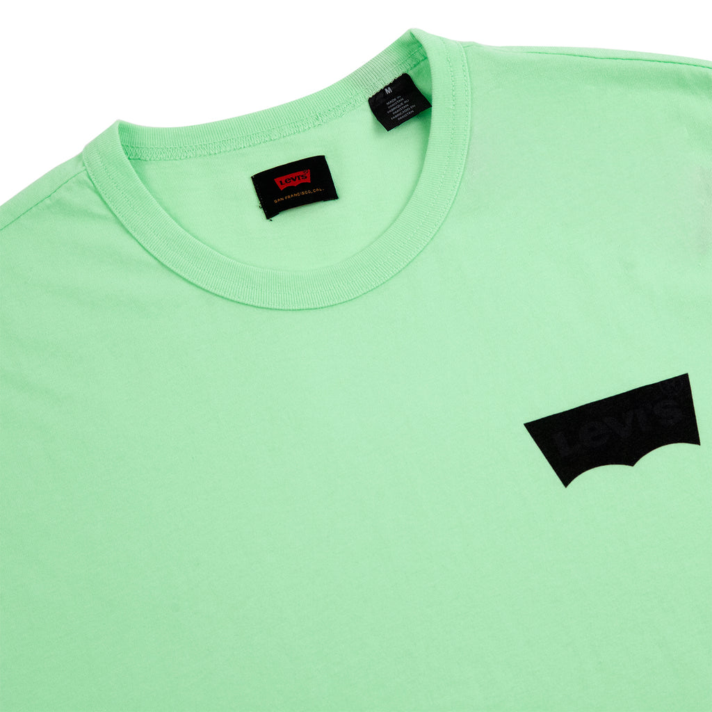 Levis Skateboarding Graphic T Shirt in Paradise Green - Detail