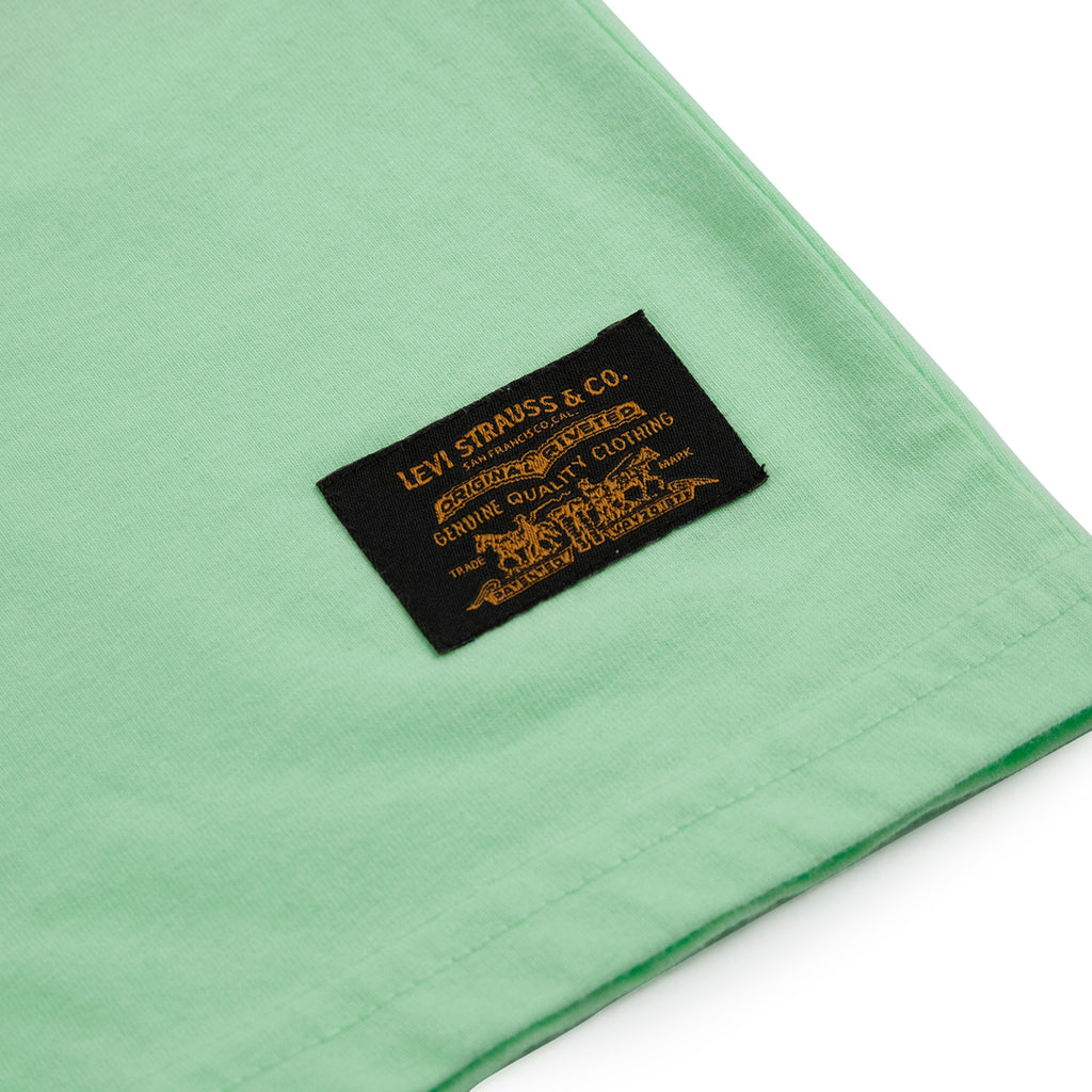 Levis Skateboarding Graphic T Shirt in Paradise Green - Label