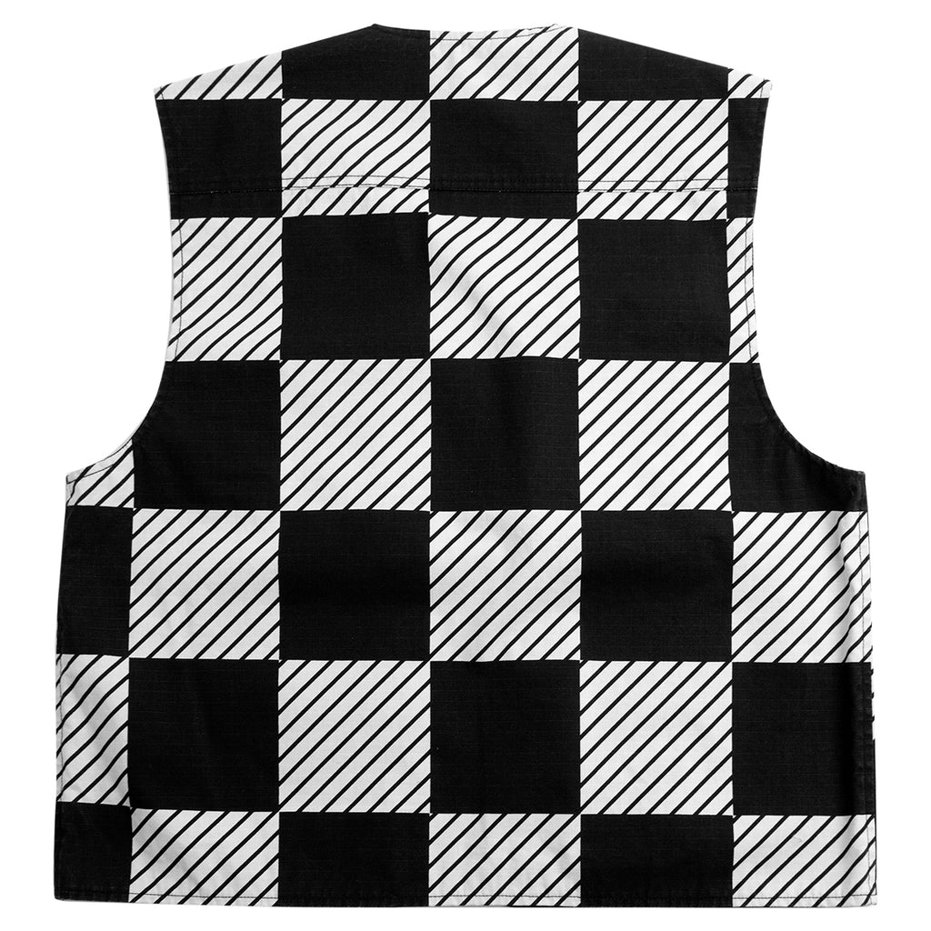 Levis Skateboarding Skate Utility Vest in Kelly Checkers Black - Back