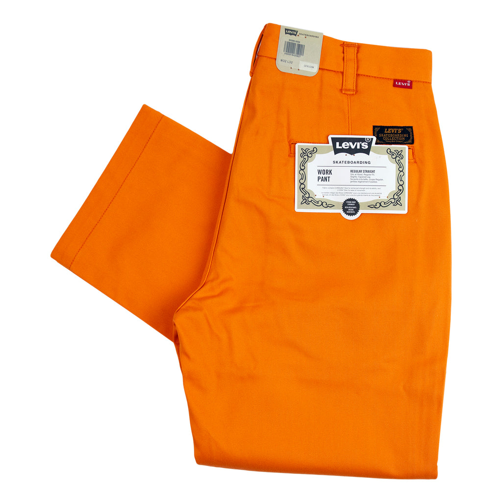 Levis Skateboarding Work Pant in Vibrant Orange