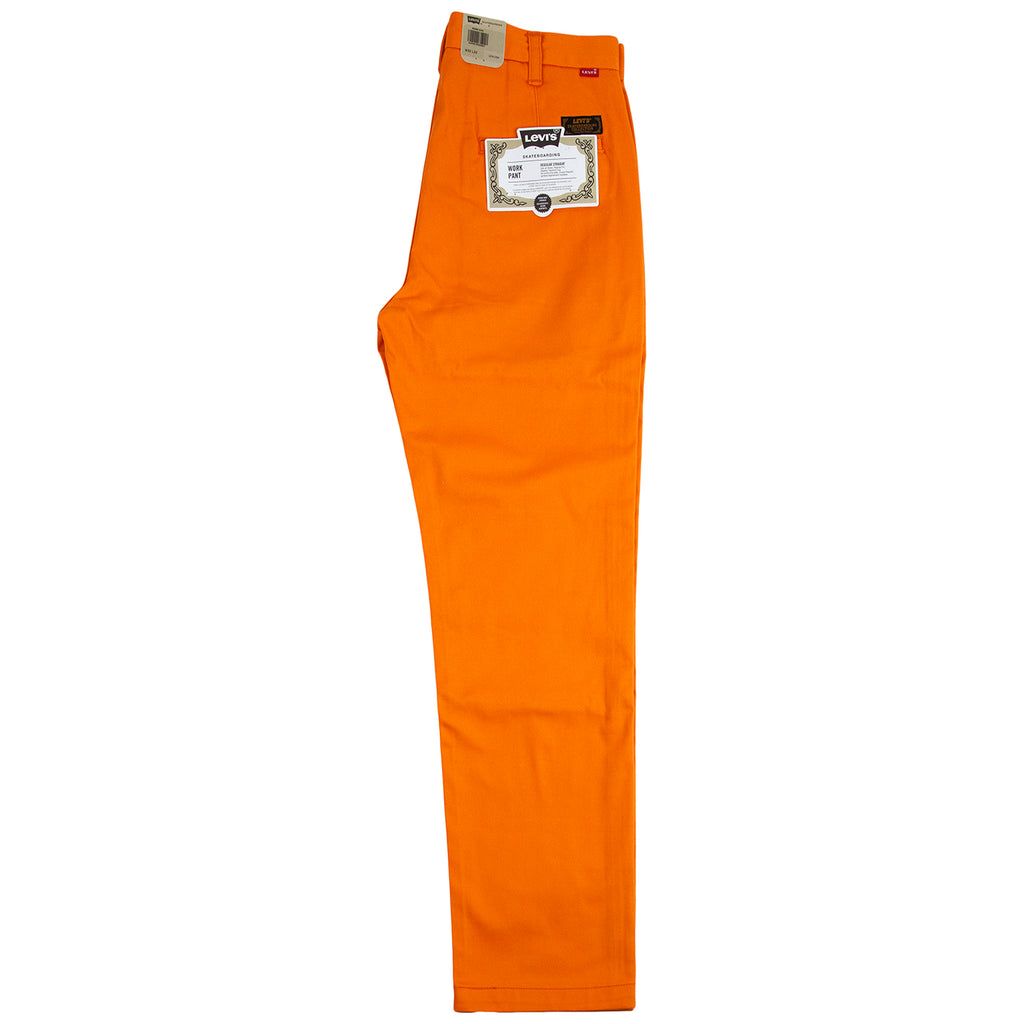 Levis Skateboarding Work Pant in Vibrant Orange - Leg