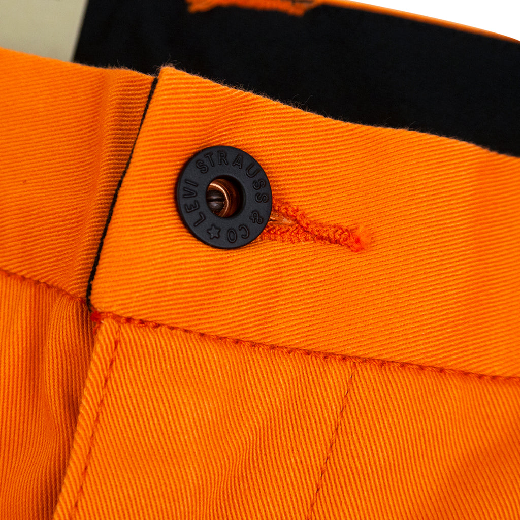Levis Skateboarding Work Pant in Vibrant Orange - Button