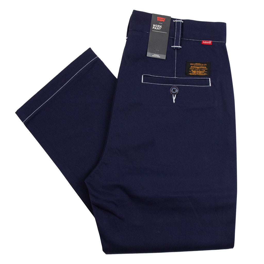 Levis Skateboarding Work Pant in Navy Blazer Stitch