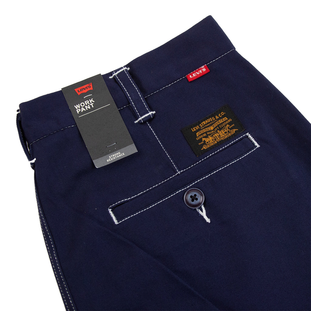 Levis Skateboarding Work Pant in Navy Blazer Stitch - Label