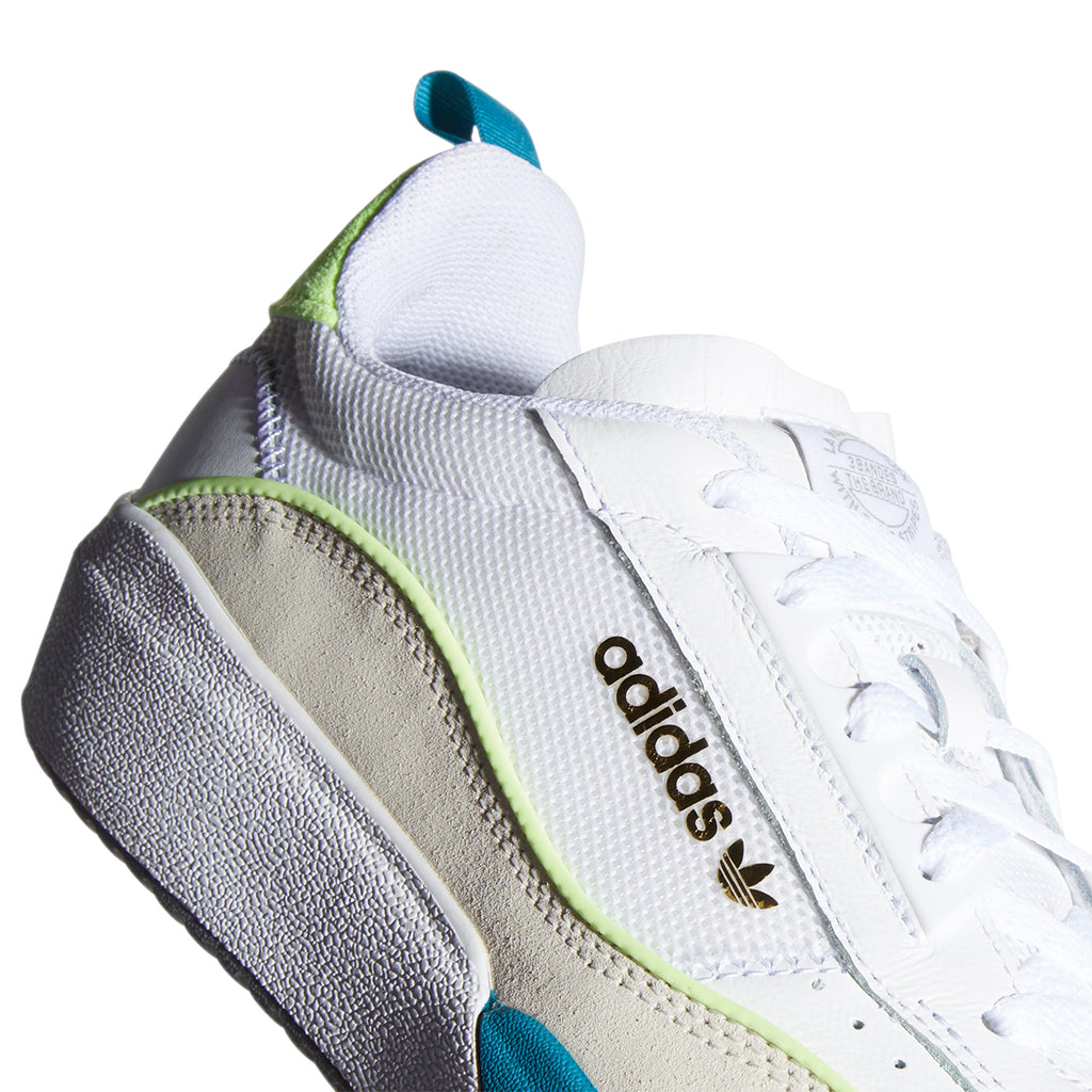 Adidas Liberty Cup Shoes in Footwear White / Chalk White / Hi-Res Yellow - Side