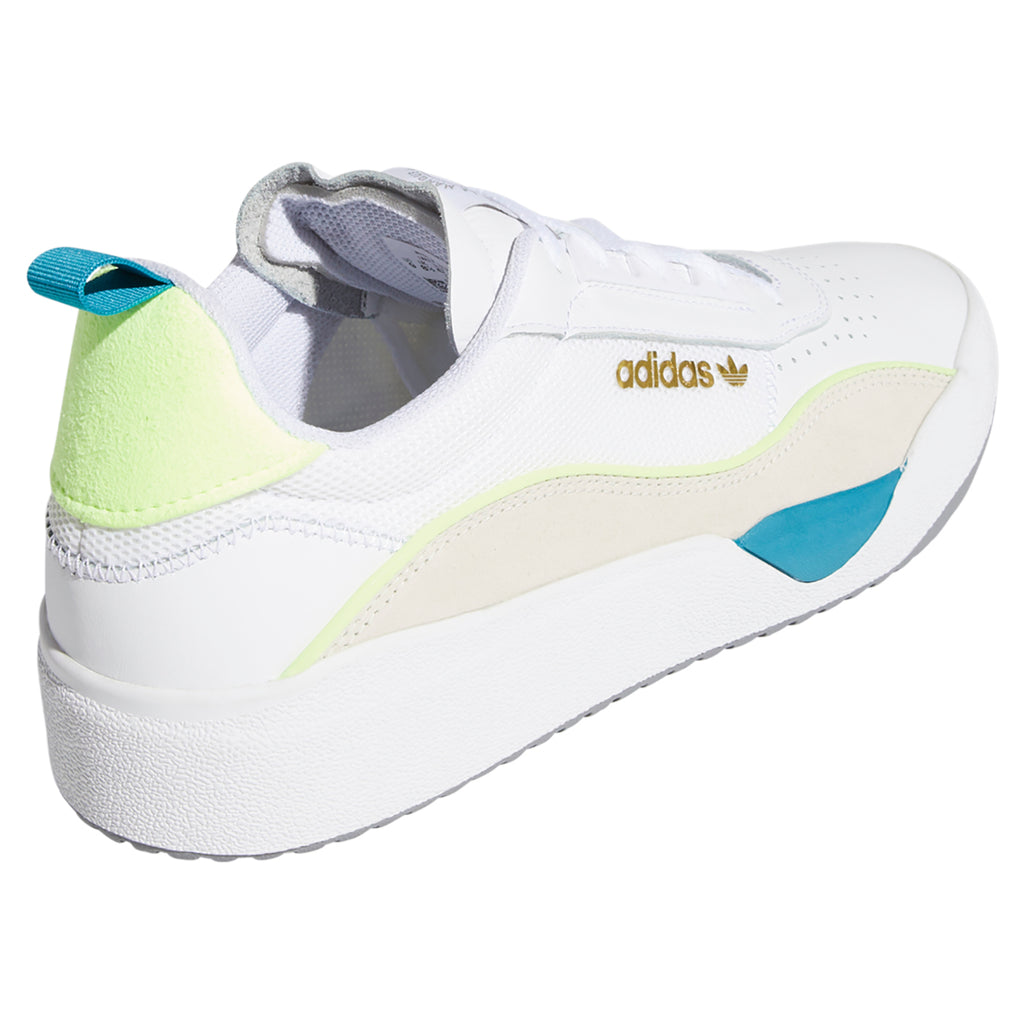 Adidas Liberty Cup Shoes in Footwear White / Chalk White / Hi-Res Yellow - Heel