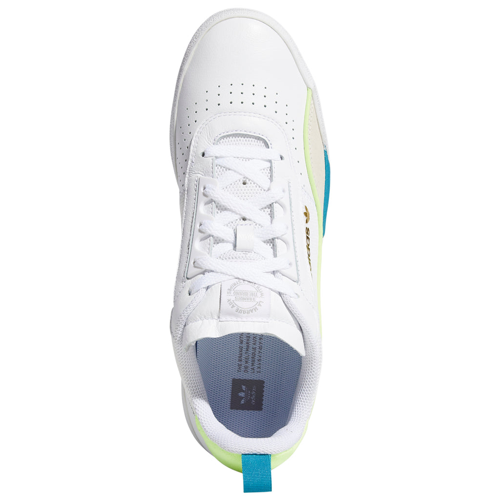 Adidas Liberty Cup Shoes in Footwear White / Chalk White / Hi-Res Yellow - Top