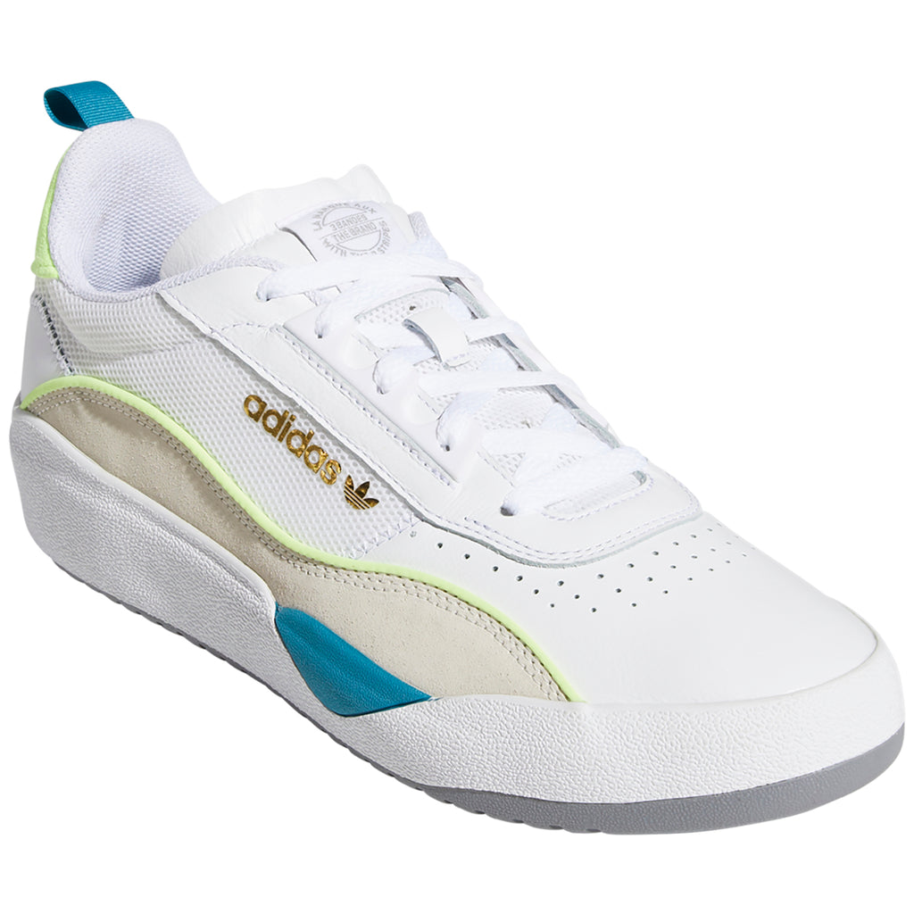 Adidas Liberty Cup Shoes in Footwear White / Chalk White / Hi-Res Yellow - Front