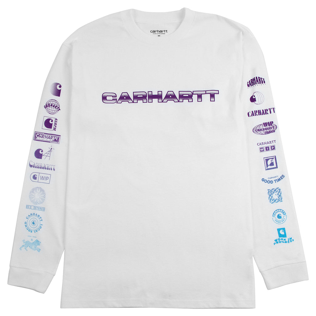 Carhartt WIP L/S Local Sound T Shirt in White