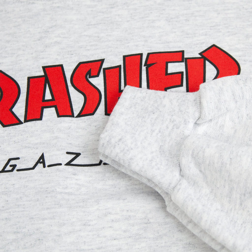 Thrasher Outlined Crew Sweatshirt in Ash Grey - Cuff