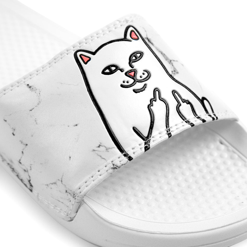 RIPNDIP Lord Nermal Slides in White Marble - Detail