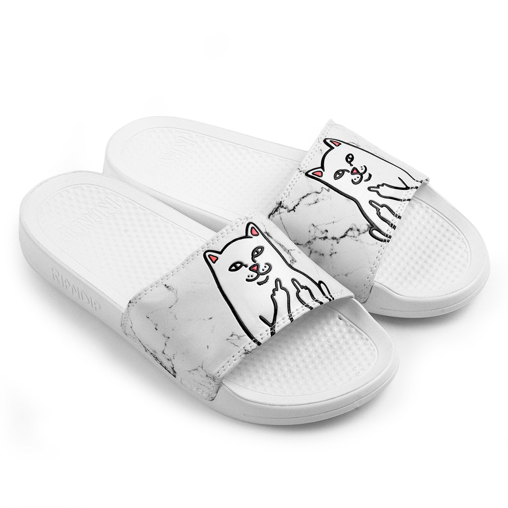 RIPNDIP Lord Nermal Slides in White Marble