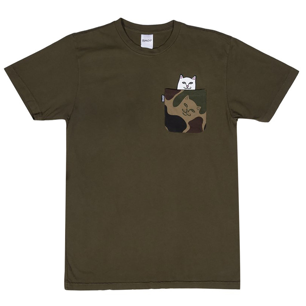 RIPNDIP Lord Nermal Pocket T Shirt in Army Camo