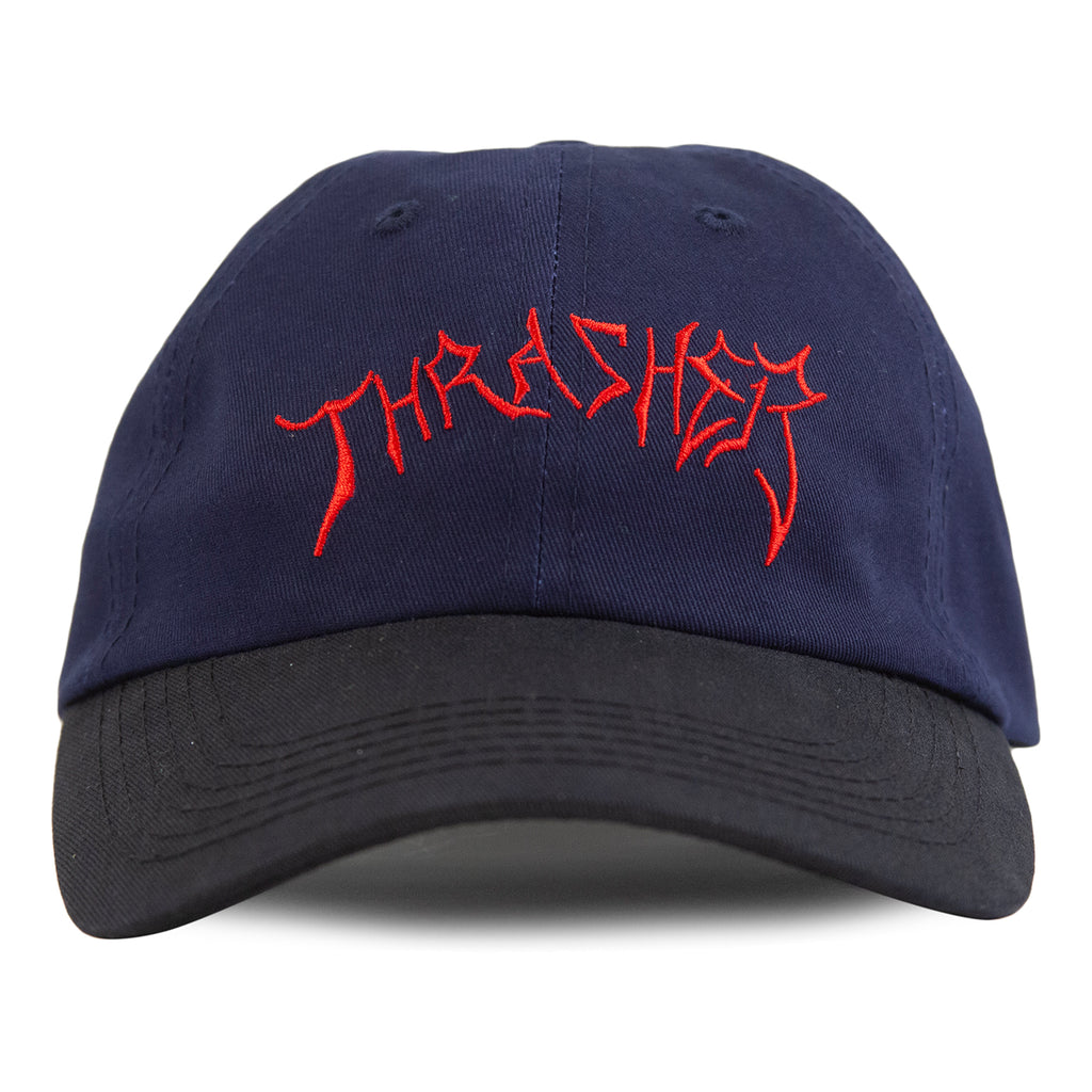 Thrasher Lotties Old Timer Cap in Blue / Black - Front