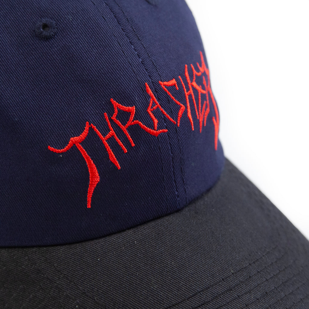 Thrasher Lotties Old Timer Cap in Blue / Black - Embroidery