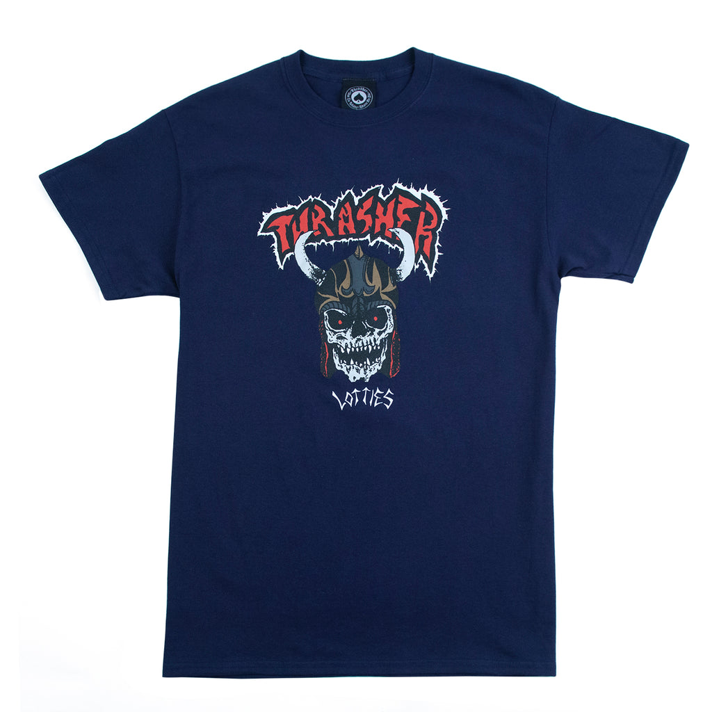 Thrasher Lotties T Shirt in Navy