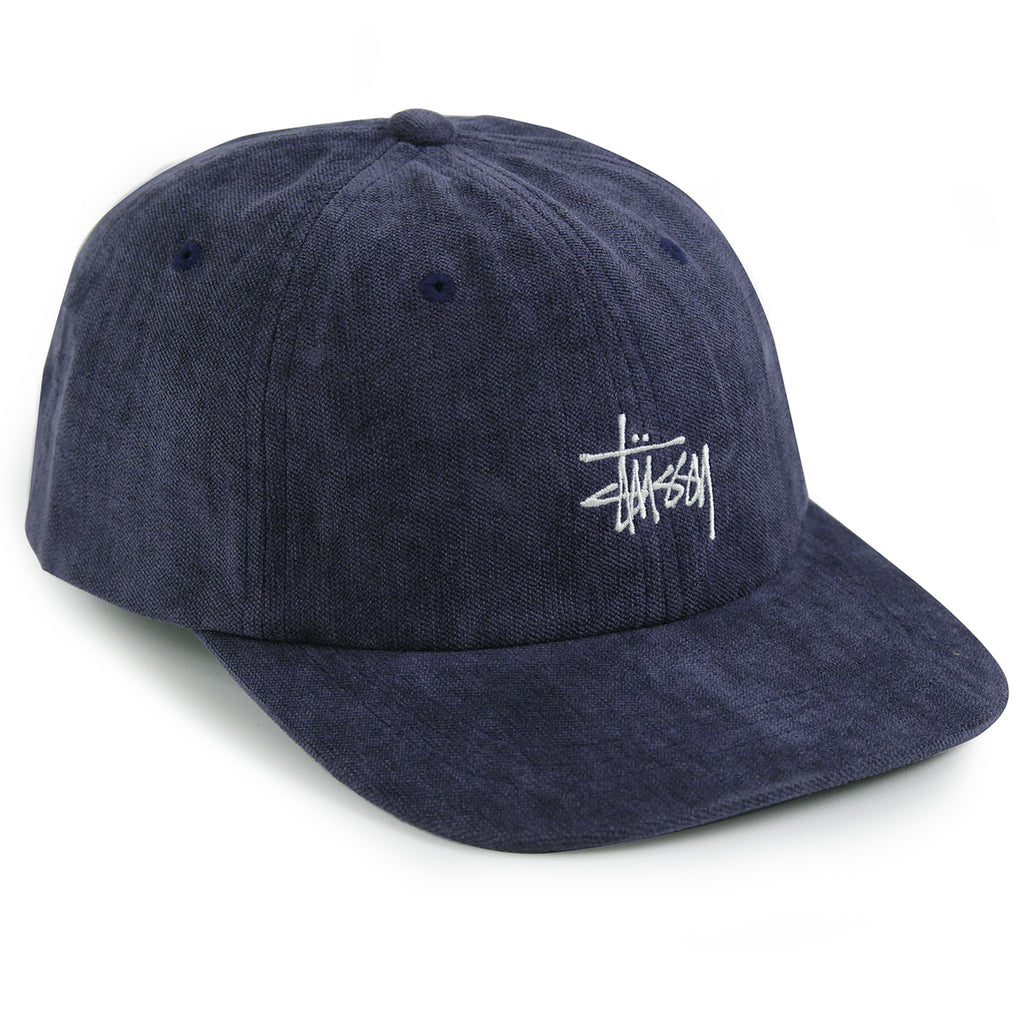Stussy No Wale Cord Low Pro Cap in Navy