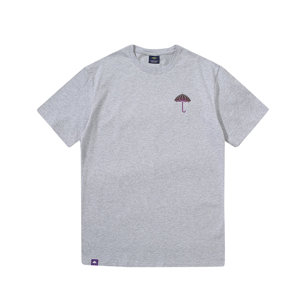 Helas Mack Dog T Shirt in Heather Grey - Front