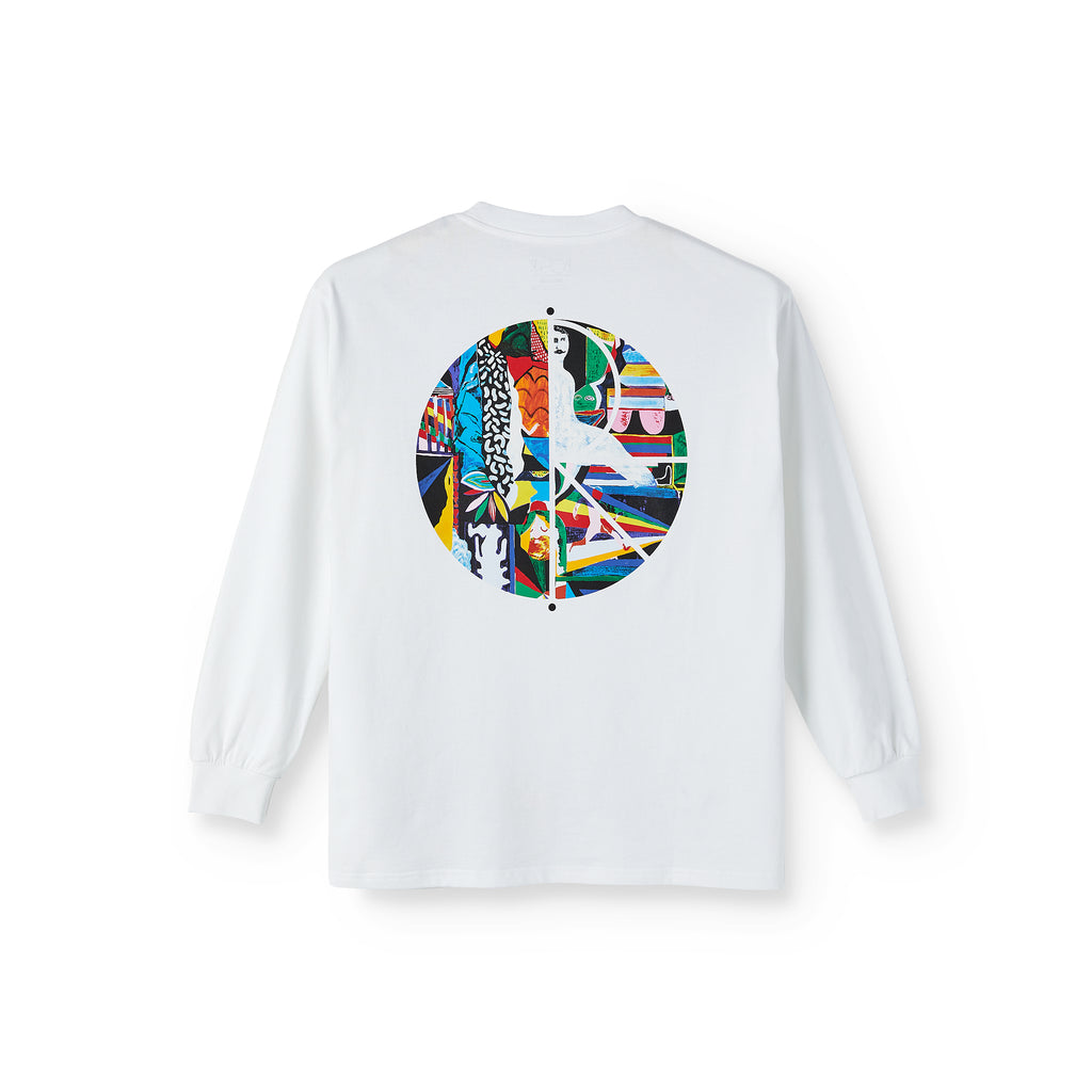 Polar Skate Co L/S Memory Palace Fill Logo T Shirt in White