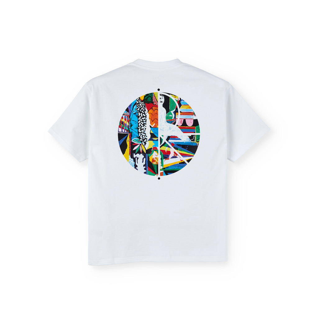 Polar Skate Co Memory Palace Fill Logo T Shirt in White