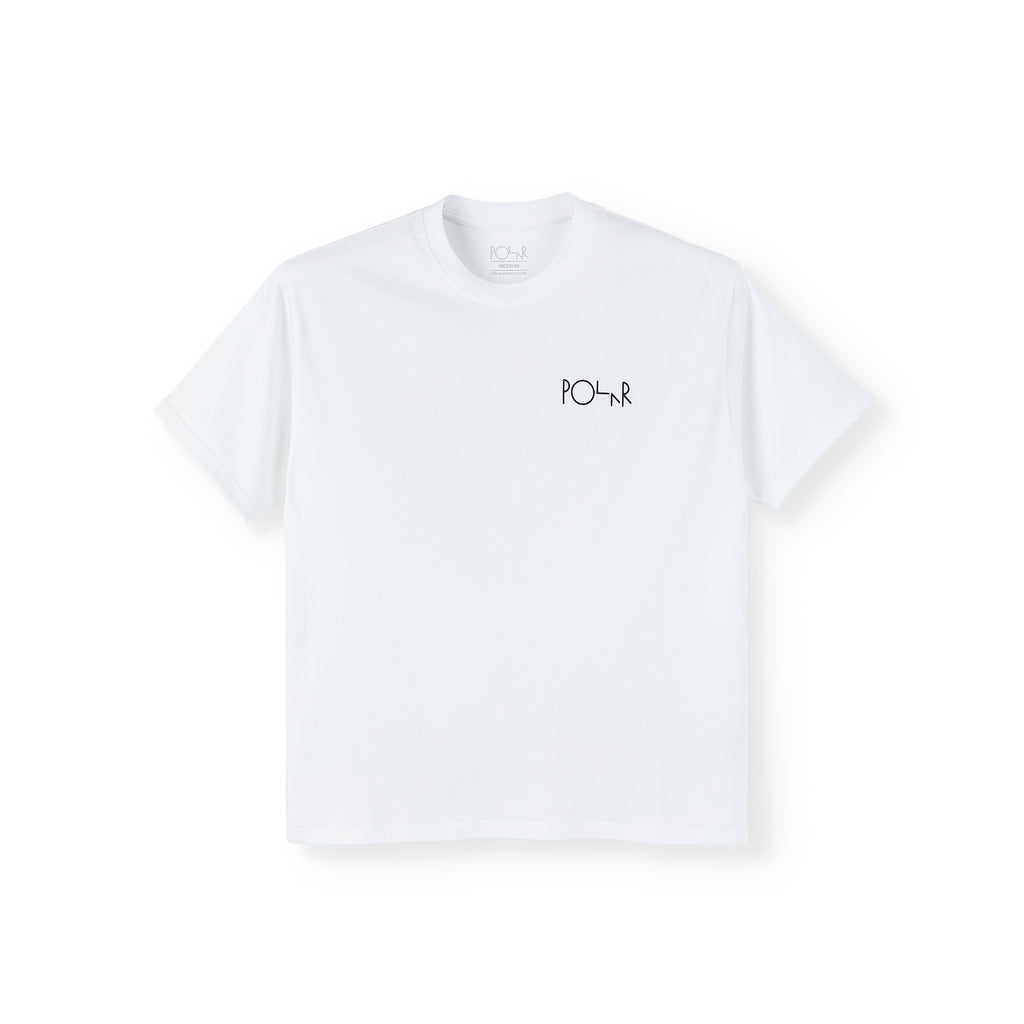 Polar Skate Co Memory Palace Fill Logo T Shirt in White - Front