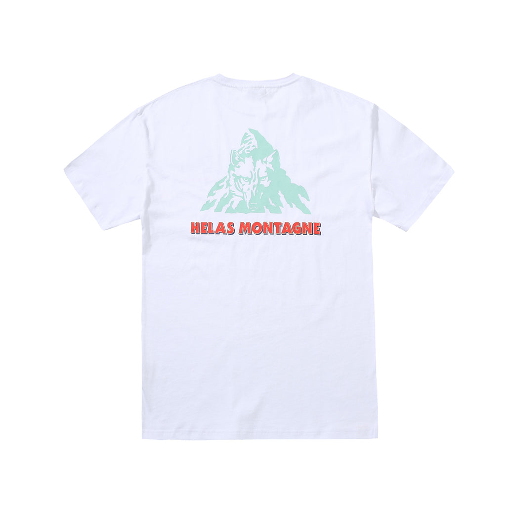 Helas Montagne T Shirt in White - Back