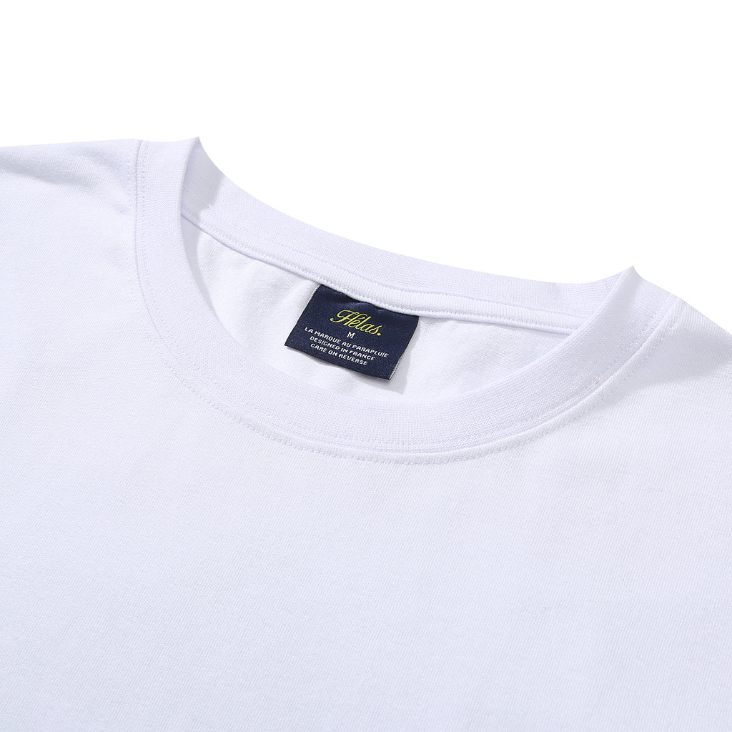 Helas Montagne T Shirt in White - Neck