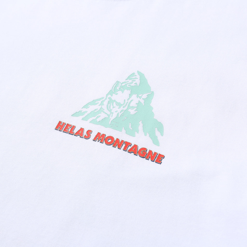 Helas Montagne T Shirt in White - Print