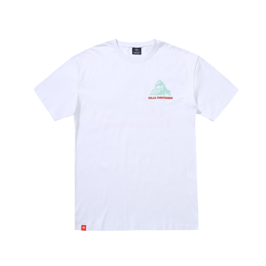 Helas Montagne T Shirt in White - Front