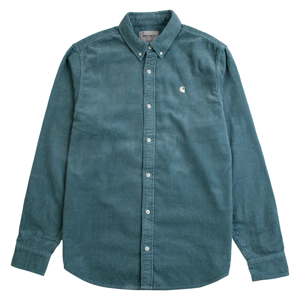 Carhartt L/S Madison Cord Shirt in Cloudy / Flour