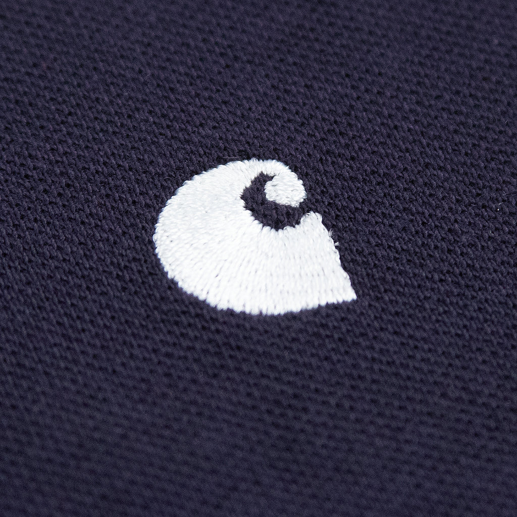 Carhartt Madison Polo Shirt in Dark Navy / Wax - Logo