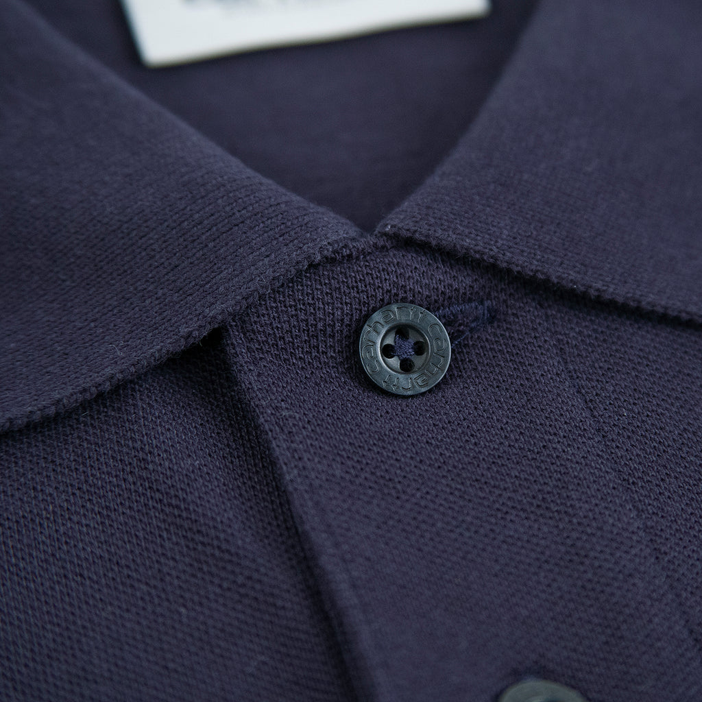 Carhartt Madison Polo Shirt in Dark Navy / Wax - Button
