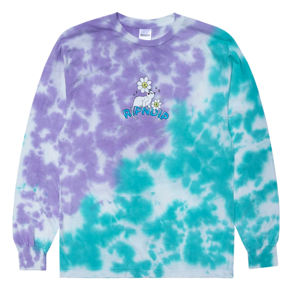 RIPNDIP L/S Magical Place T Shirt in Tie Dye
